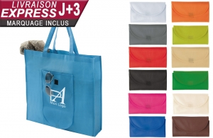 Tote bag pliable non-tissé personnalisable en express