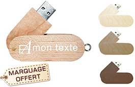 59c9a2bf34511 ... Clé USB publicitaire personnalisée Twister bois recyclé et clip rotatif pas  cher