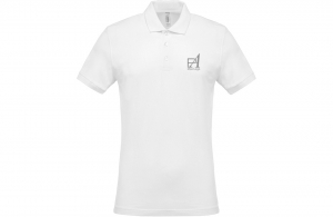 Polo blanc personnalisé homme agence voyage