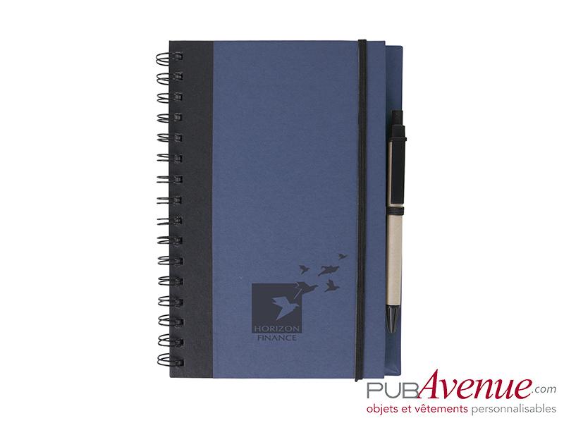 Bloc-notes personnalisable et stylo en express