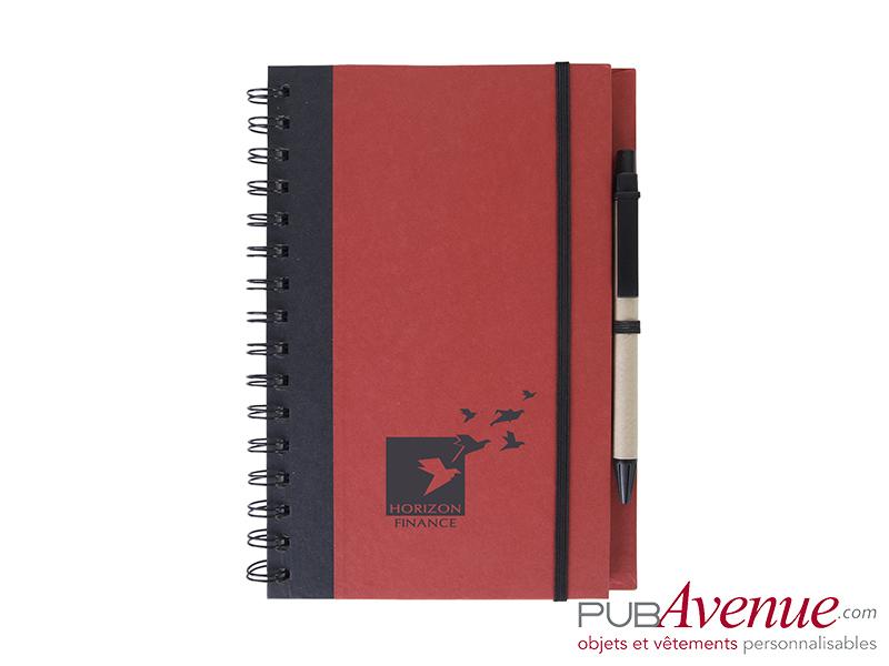 Bloc-notes personnalisé et stylo en express