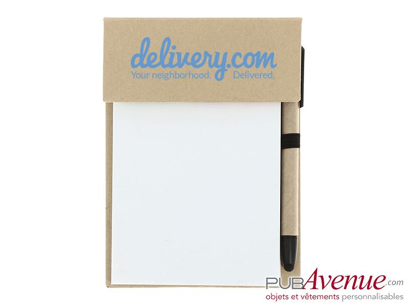 Bloc note et stylo personnalisé en express