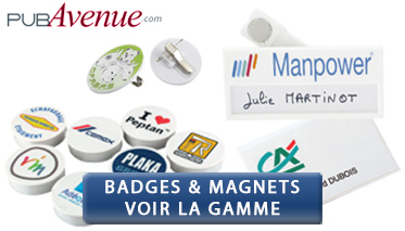 badges à personnaliser