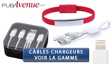 cable telephone avec logo