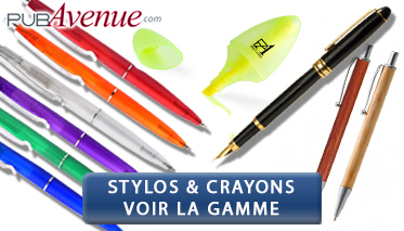 crayons publicitaires