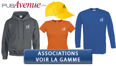 Vêtements pour associations