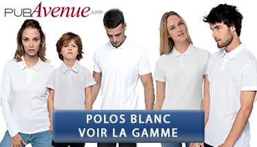 polos blanc personnalisable